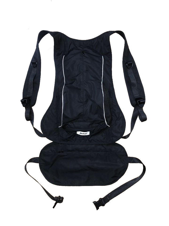 AW20 2 WAY BAGPACK (BLACK)
