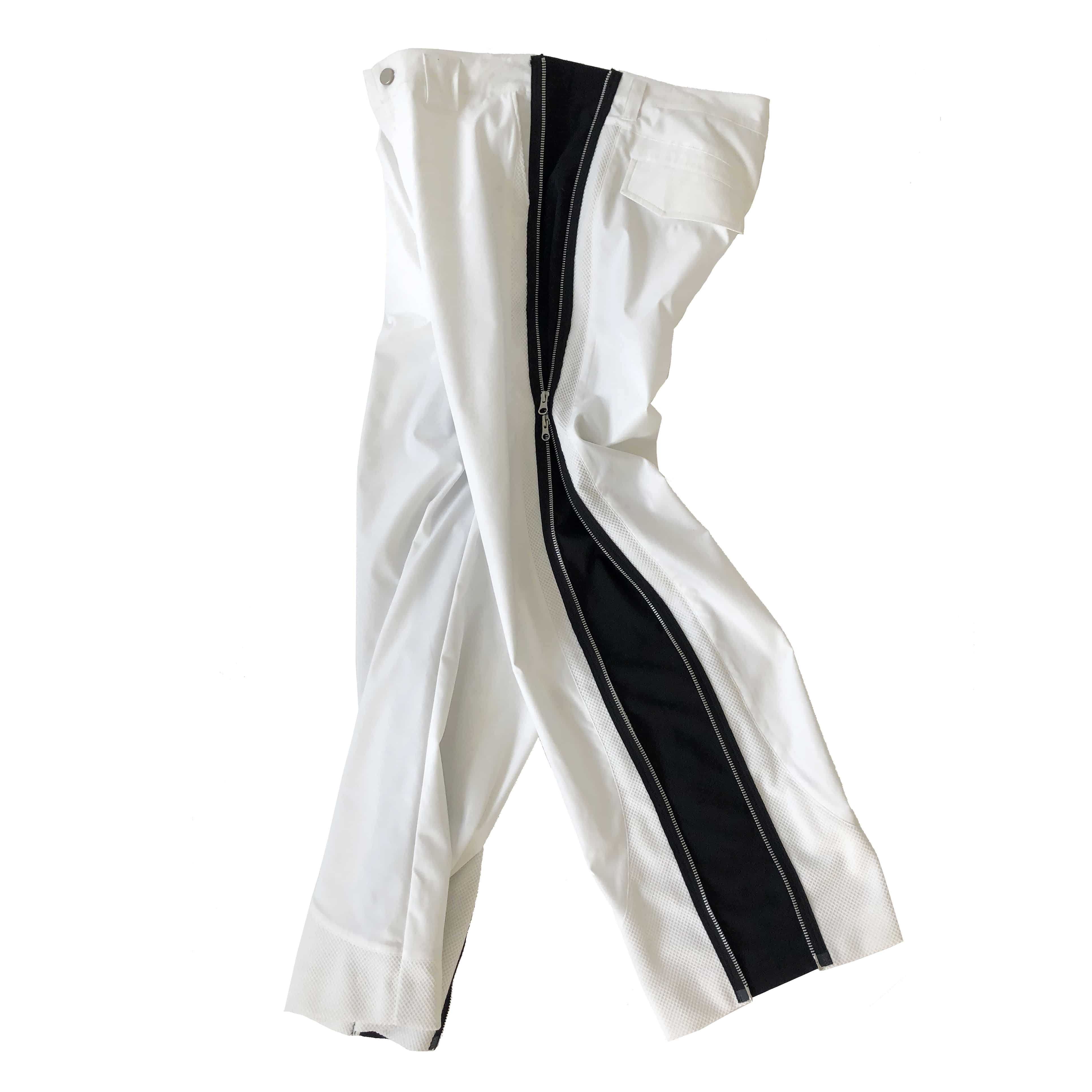 AW20 SIDE ZIP TROUSERS (WHITE)