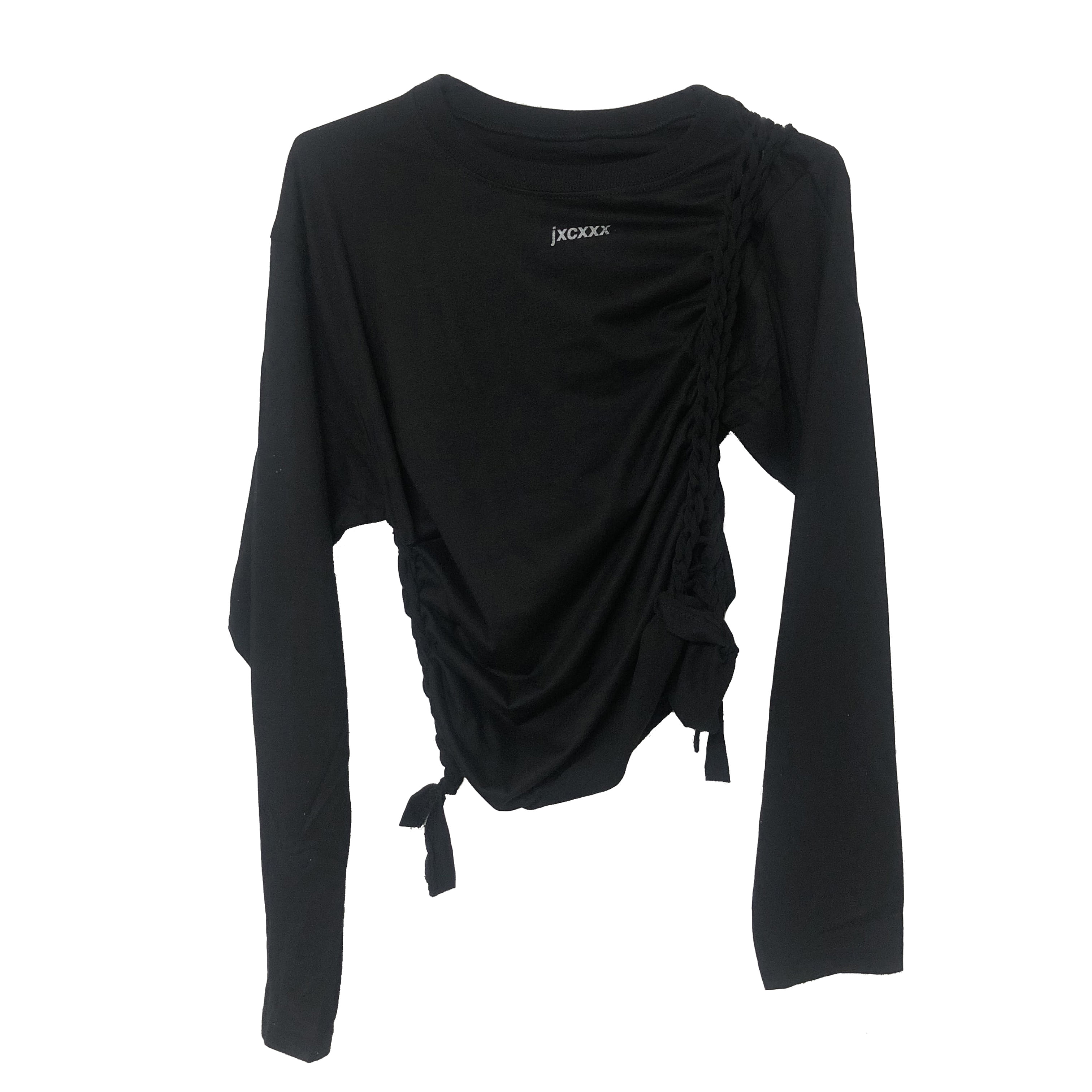 jxcxxx TWISTED LONG SLEEVES (BLACK)