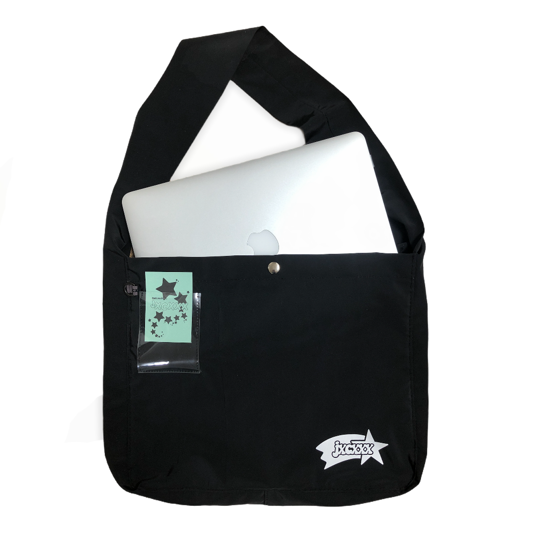 jxcxxx BOOK BAG (BLACK)